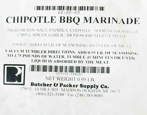Chipotle BBQ Marinade