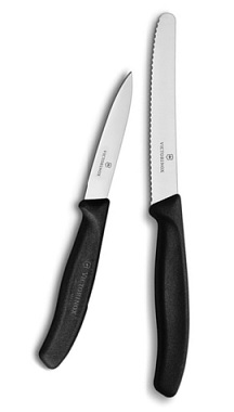 Black Utility & Paring Knife Set