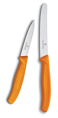 Orange Utility & Paring Knife Set