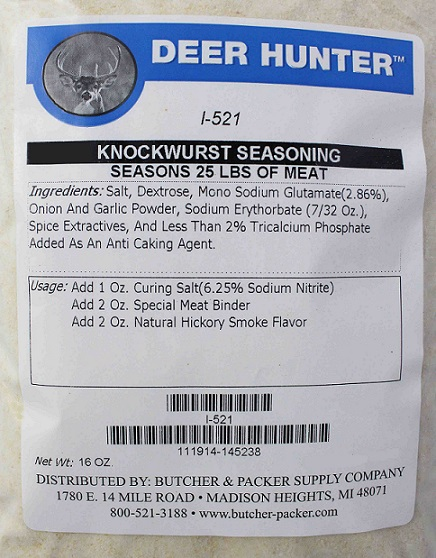 Knockwurst Seasoning