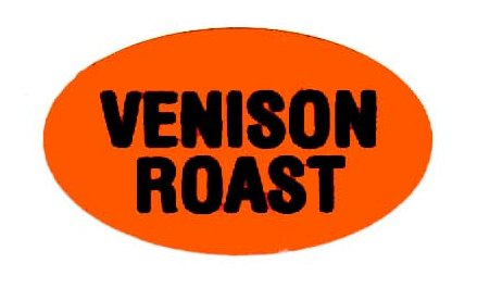 Orange Venison Roast Label