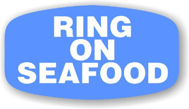 Blue Ring On Seafood Labels
