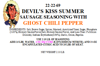 Devil's Kiss Summer Sausage