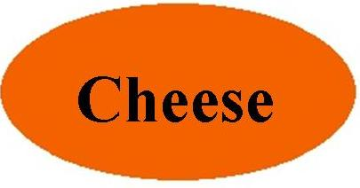 Orange Cheese Label