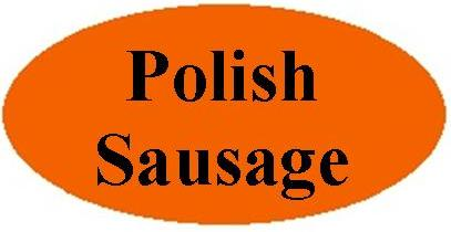 Orange Polish Sausage Labels