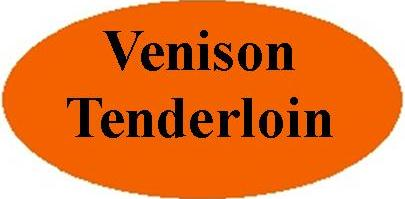 Orange Venison Tenderloin Label